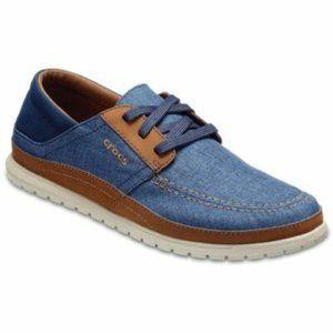 NWT Crocs Santa Cruz Playa Lace up Shoes